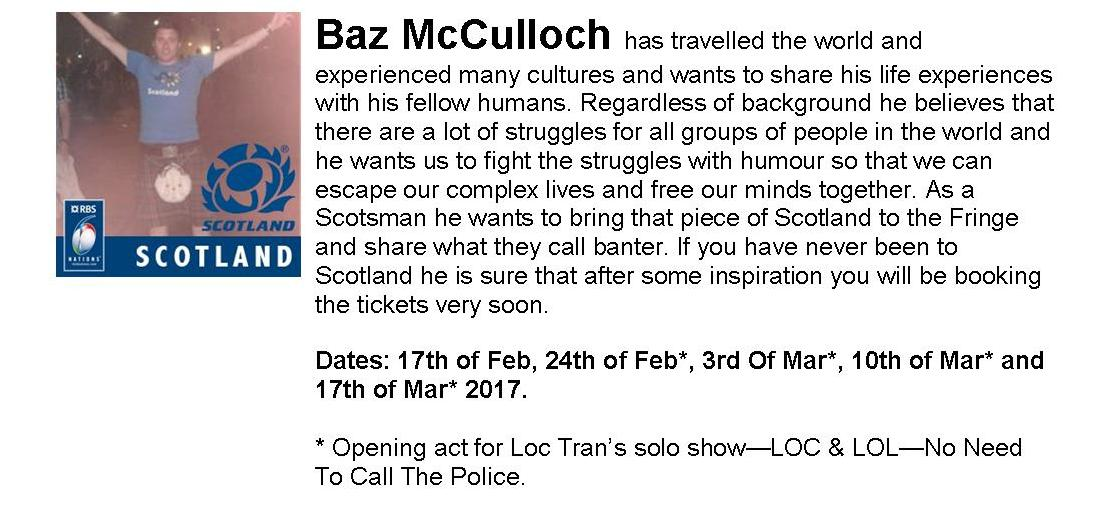 Baz McCulloch (Scotsman in Adelaide)