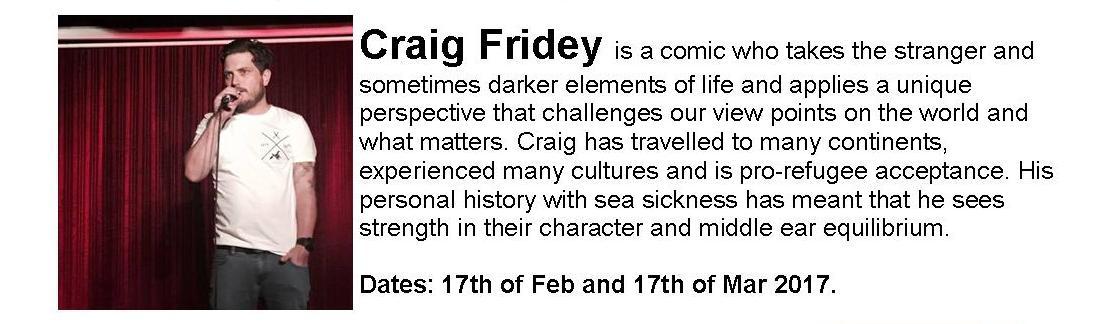 Artist Profile: Craig Fridey (Travel Stories)
