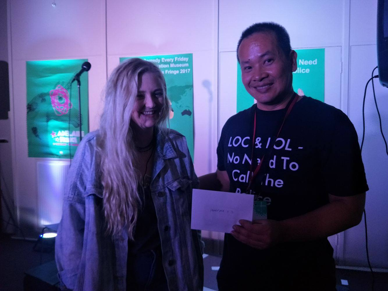 Emily who won a double pass to Headspace Stand Up For Youth Mental Health - Adelaide Fringe hosted by headspace Edinburgh North.