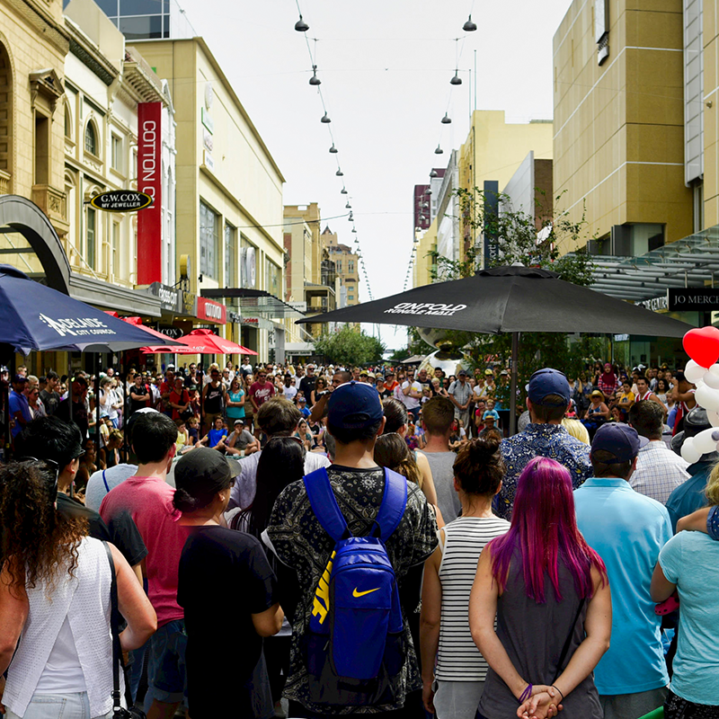 Unfold Fringe In Rundle Mall
